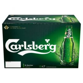 """ארגז בירה קרלסברג 330 מ""""ל 24 יח'"""