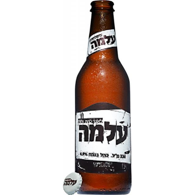 """ארגז בירה עלמה 330 מ""""ל 24 יח'"""