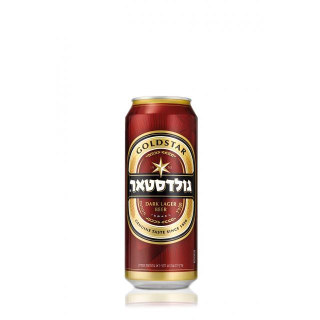 """פחית בירה גולדסטאר 500 מ""""ל"""