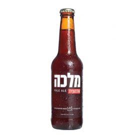 """בקבוק בירה מלכה אדמונית 330 מ""""ל"""
