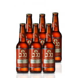 """שישיית בירה נגב אמבר אייל 330 מ""""ל"""