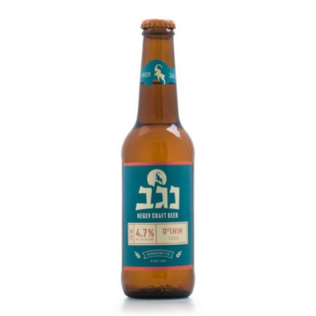 """שישיית בירה נגב אואזיס 330 מ""""ל"""