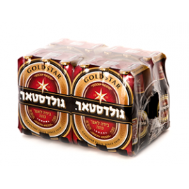 """ארגז בירה גולדסטאר 330 מ""""ל 24 יח'"""