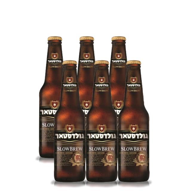 """שישיית בירה גולדסטאר 10% 330 מ""""ל"""