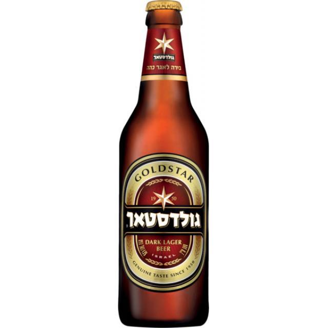 """ארגז בירה גולדסטאר 500 מ""""ל 24 יח'"""