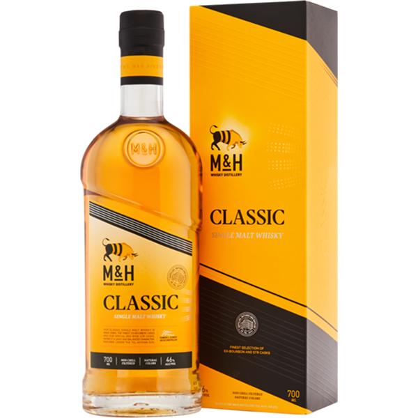 """סינגל מאלט וויסקי – M&H CLASSIC 700 מ""""ל"""
