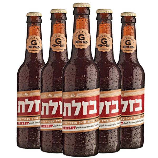 שישיית בירה בזלת אייל ענברי 330 מ״ל