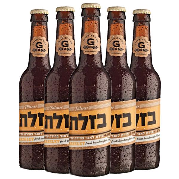 שישיית בירה בזלת פילזנר 330 מ״ל