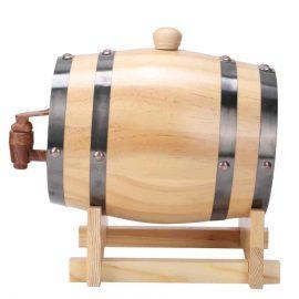 חבית יין עץ 1.5 ליטר + ברז מזיגה