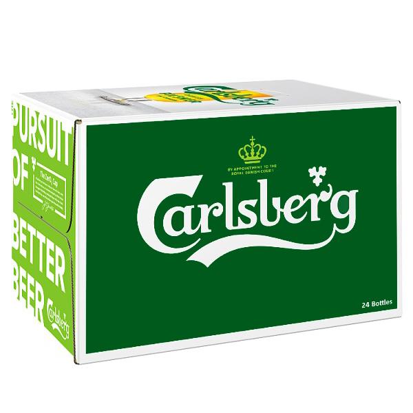 """ארגז בירה קרלסברג ללא אלכוהול 330 מ""""ל 24 יח'"""