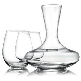 סט דקנטר + 4 כוסות יין