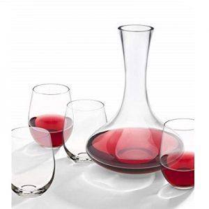 סט דקאנטר + 4 כוסות יין