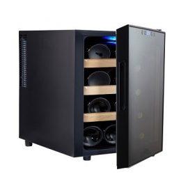מקרר יין 12 בקבוקים Galaxy, מדפי עץ נשלפים, תצוגה דיגיטלית