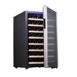 מקרר יין עד 48 בקבוקים Galaxy פרמיום מדחס, מדפי עץ נשלפים, תצוגה דיגיטלית
