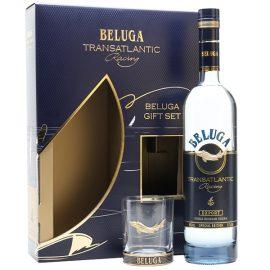 מארז וודקה: בלוגה טראנס אטלנטיק מארז + כוס 700 מ״ל