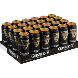 """ארגז בירה גינס פחית 440 מ""""ל 24 יח'"""