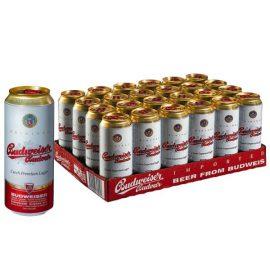 """ארגז בירה באדוויזר 500 מ""""ל 24 יח'"""