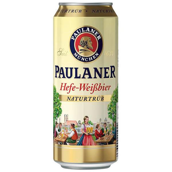 """ארגז בירה פאולנר פחיות 500 מ""""ל 24 יח'"""